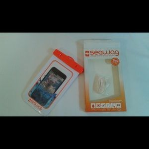 Seawag waterproof phone case orange and white